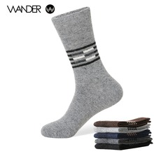 WANDER Men's winter warm socks man The rabbit wool socks Men socks to Arrow Aaaorted color the extended wool socks
