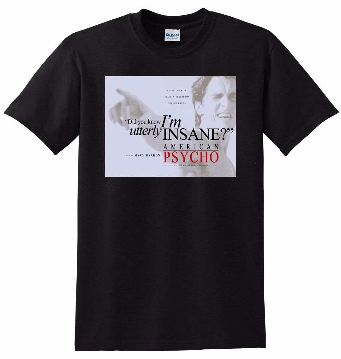 *NEW* AMERICAN PSYCHO T SHIRT christian bale Men T-Shirt Cotton 100% top tee Casual Man Tees Mens
