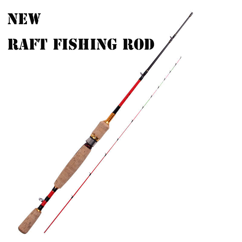 2016 New 99% Carbon Raft Fishing Rod 1.2M Superlight Folding Casting Pole 2 Section Rod Fishing Tackle