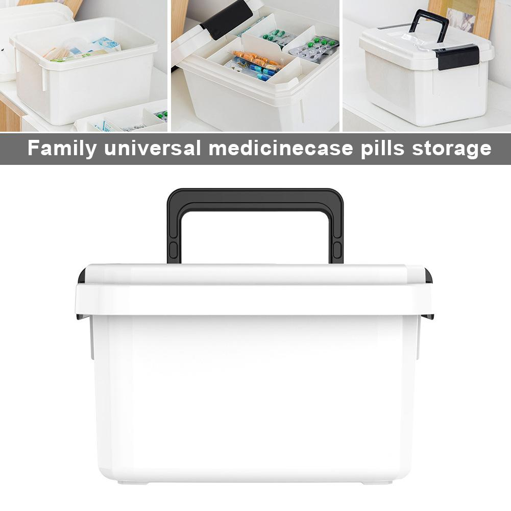 Newest Medicine Box First Aid Kit Box Plastic Container Emergency Kit Portable Multi-layer Large Capacity Storage Organizer Case