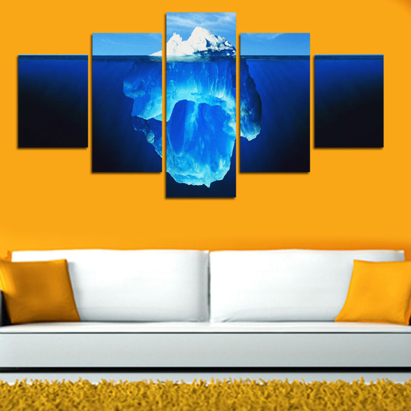 5 Pcs Tip Of The Iceberg Painting Canvas Wall Art Picture Home Decora Living Room Canvas Print Painting Large Canvas GAZ263