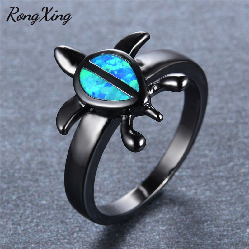 the women ring promise for black rainbow rings kit clubs party men gold october fire s wedding opal filled birthstone engagement products