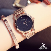 AAA GUOU miłośników Zegarków Kwarcowych Zegarków Marki Kobiety Mężczyźni Ubierają Zegarki Pełna Stal Zegarki Moda Casual Zegarki Różowe Złoto OP001