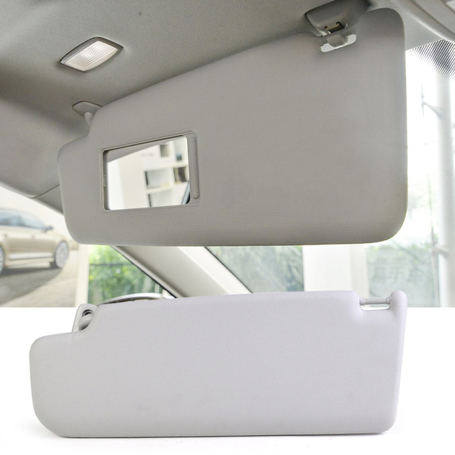 1Pc New Grey Sun Visor Right Side Fit for VW Golf Passat 2000 2001 2002 2003 2004 2005 3B0857552 6X0 857 522