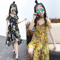 Children Beach Dress 2017 Summer Kids Dresses For Girls Fashion Chiffon Dress Sundress Princess Teenagers Clothing