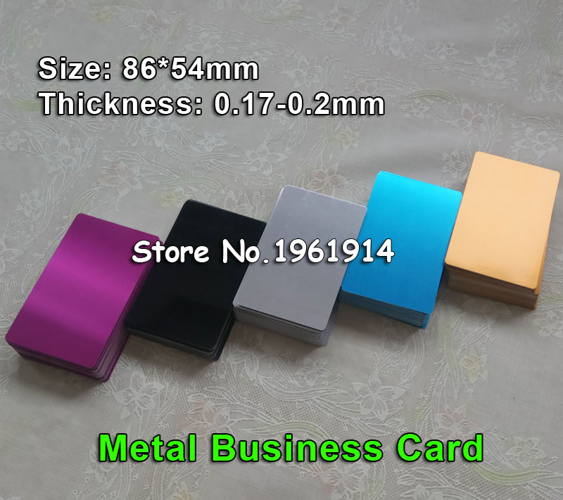 100pcs Blank sublimation metal name card printing blank business ID card use sublimation ink and paper five colors design personalized printing red wedding invitations cards blank paper card kit laser cut lace flower convite pack of 50
