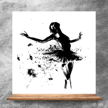 ZhuoAng Abstraction Dancer Clear Stamps/Silicone Transparent Seals for DIY scrapbooking photo album Stamps 10*10cm