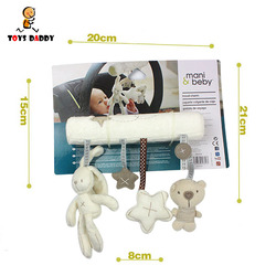 Мягкая детская погремушка, кукла-кролик, детская музыкальная подвесная кровать, подвесная плюшевая игрушка, ручной Колокольчик плюшевая иг...