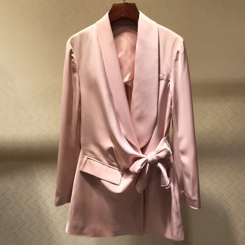 Silk Jacket Fashion Ladies Overcoats Long Sleeve Cardigan Outfits Clothes Jacket Coat Outwear Women Clothing 2019 New