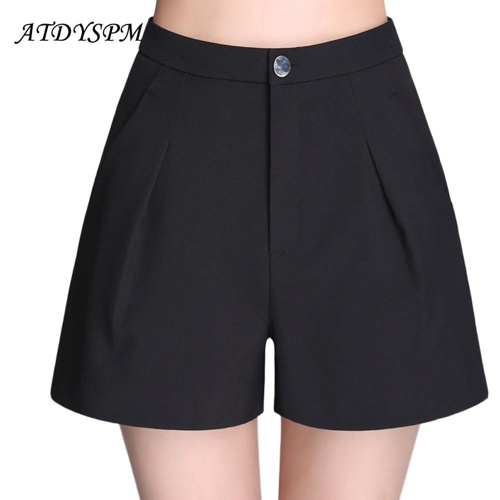 Women Summer Hot   Shorts   High Quality Breathable Fabric A-Line Wide Leg   Shorts   Loose Cotton   Shorts   Casual High Waist   Short   Pants
