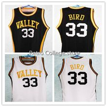 2b4cd7181ff VALLEY HIGH SCHOOL LARRY BIRD  33 Throwback Basketball Jersey Embroidery  Stitched XXS-XXL(