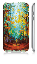 Mobile Phone Case Retail 1pc Oil Painting Protective White Hard Case Cover For Ipod Touch 4