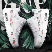 Original Running Shoes Women Cushioning 90 Sneakers Mesh Comfortable Height Increasing Flowers Shoes Max Size European 40