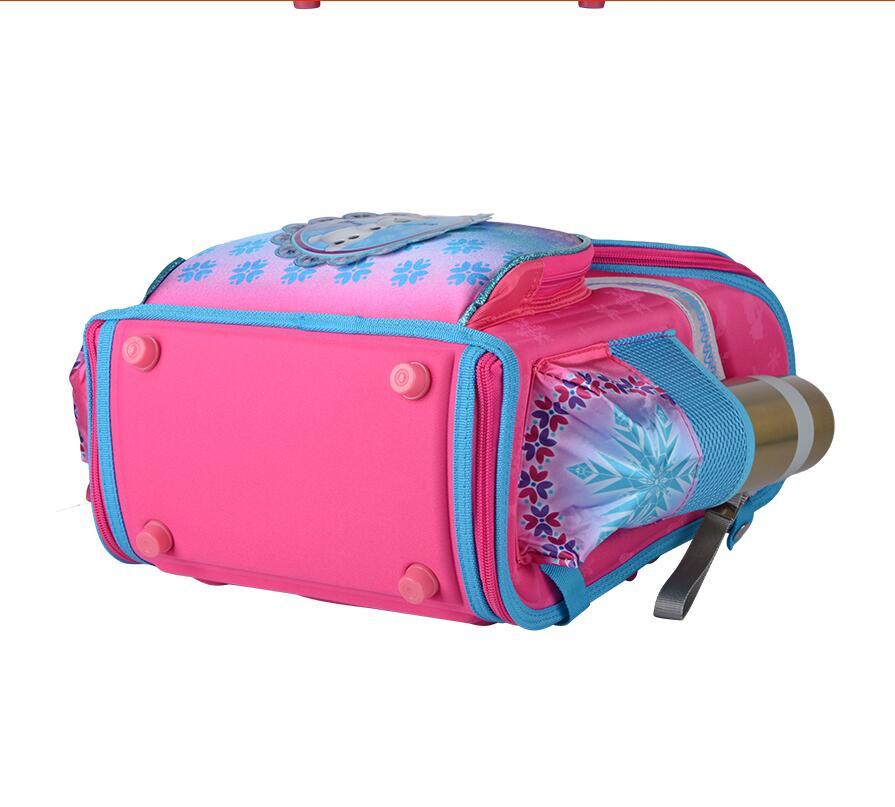 Image 4 - New Girls Cartoon Snow Queen Backpack School Bag Orthopedic Children Schoolbag Anna Elsa Backpack Mochila Infantil-in School Bags from Luggage & Bags