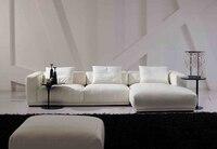 Speciale scandinavische stylen postmoderne creatieve handel-vans authentieke kleine appartement woonkamer sofa stof