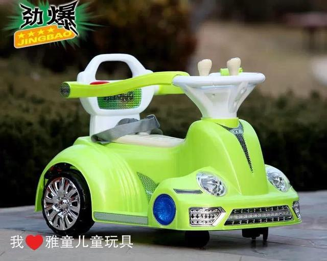 Wali car children electric vehicles four pairs of drive Bluetooth remote baby stroller can take people indoor bumper car