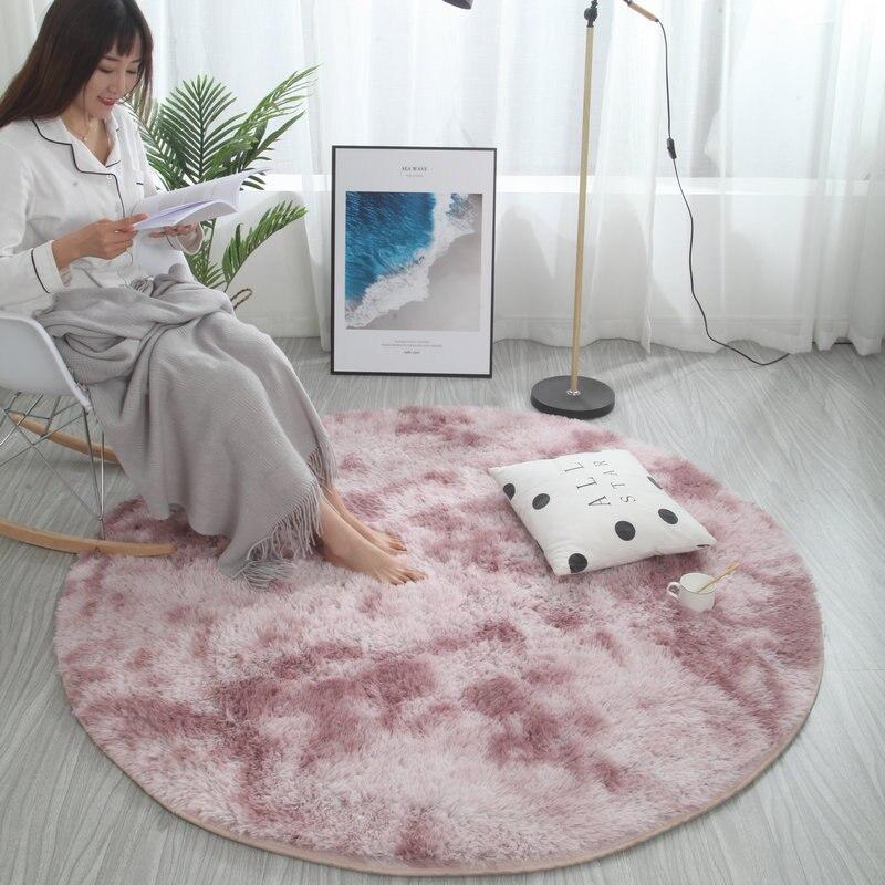 ✔  Nordic круглый ковер галстук краситель гостиная журнальный столик одеяло спальня прикроватный коврик ✔