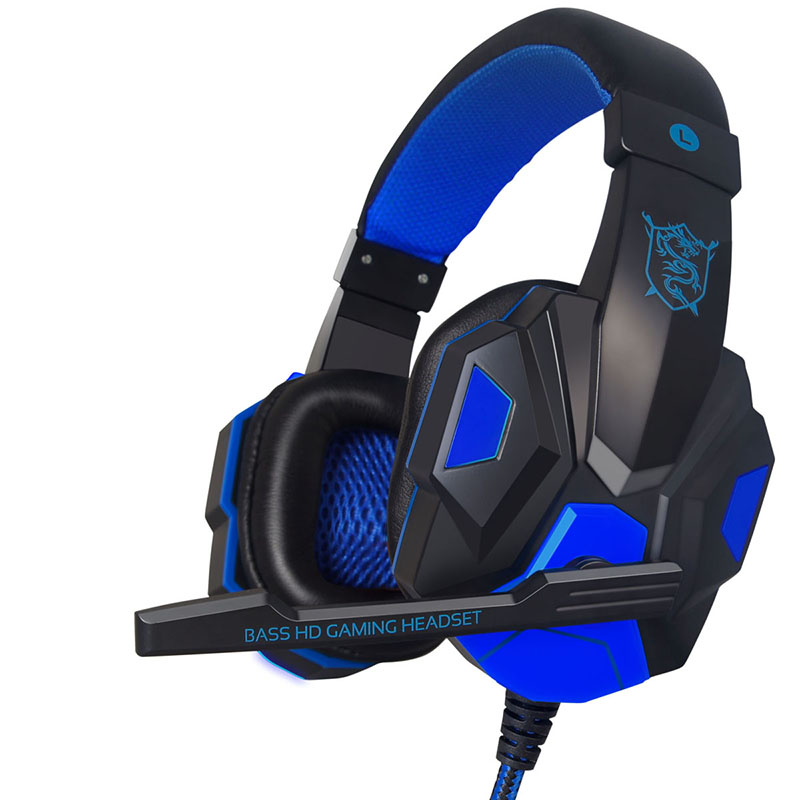 Plextone PC780 wired gaming headset head mounted stereo headset with microphone for PC laptop mobile gaming heavy bass headset in Headphone Headset from Consumer Electronics