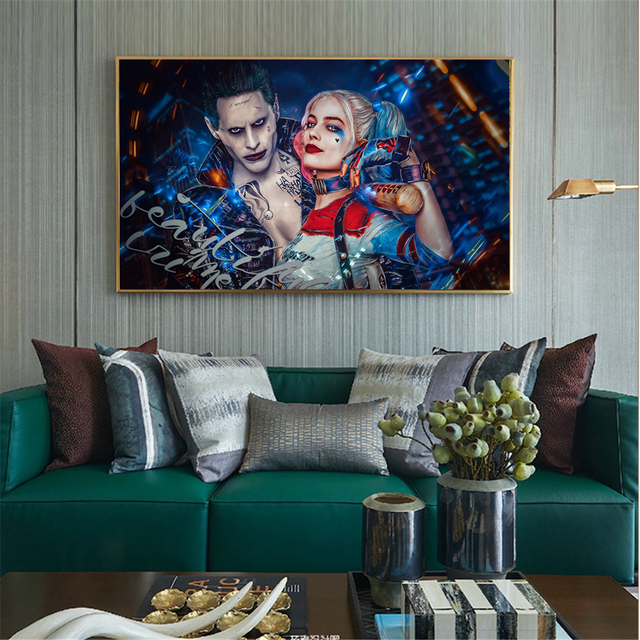 Us 2 69 10 Off Canvas Print Wall Painting Batman Film Movie Joker Home Decorative Art Pictures For Living Room Posters Cuadros In Painting