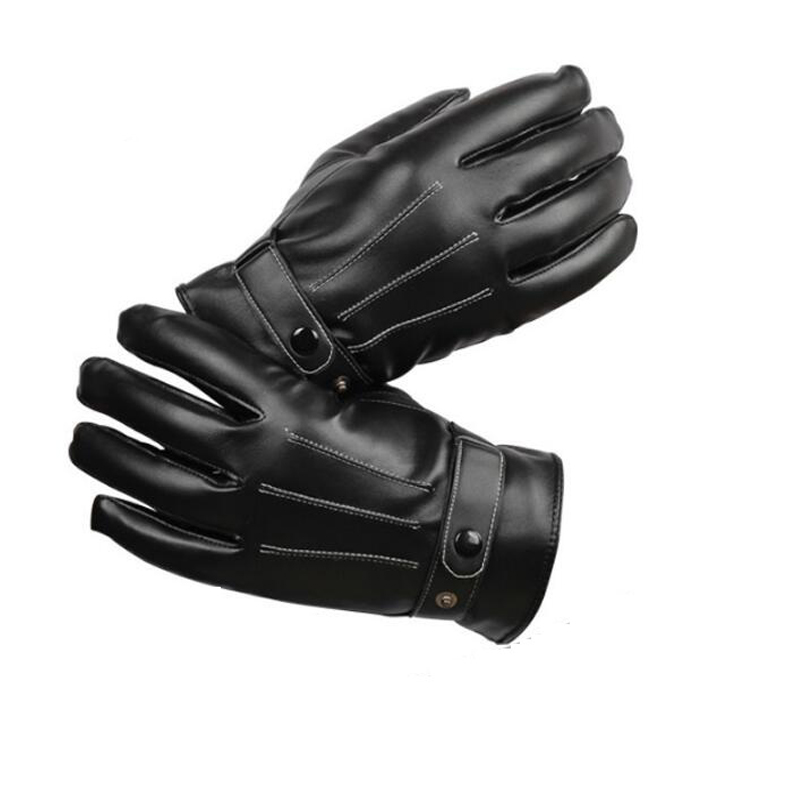 genuine leather gloves mens quality suede winter thermal male b12