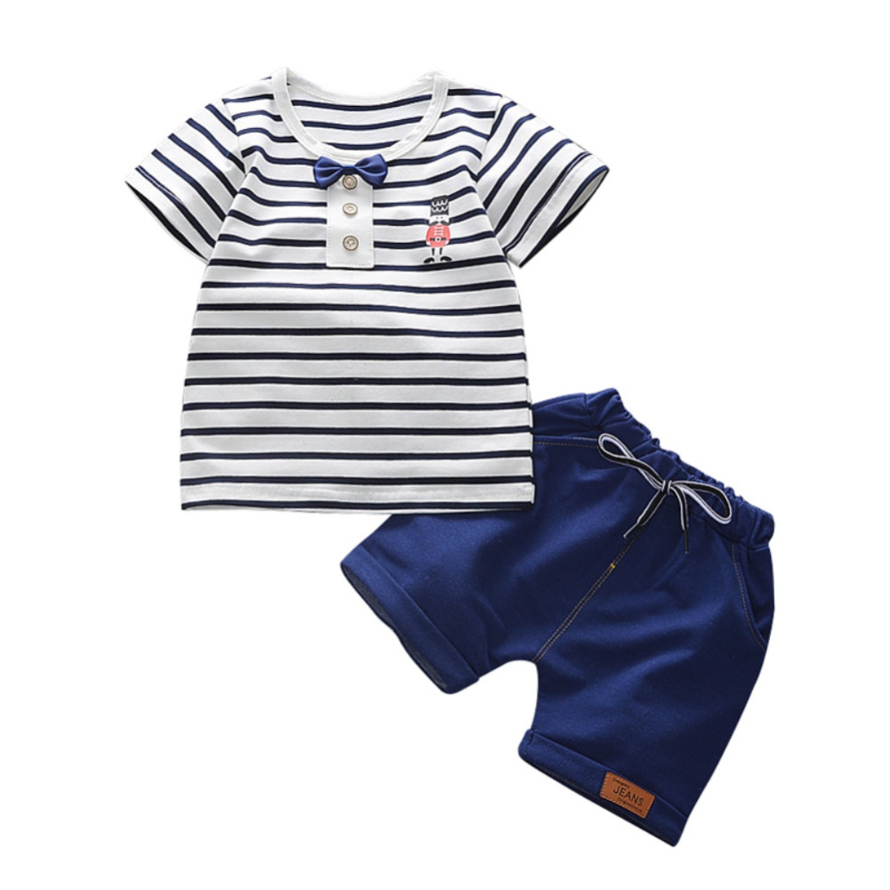 Boy Clothing Sets Fashion T-shirt+Solid Pants Set Summer Kid Outfit Toddler Children Cotton Tracksuit Clothes t shirt tops cotton denim pants 2pcs clothes sets newborn toddler kid infant baby boy clothes outfit set au 2016 new boys
