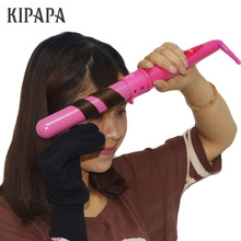 KIPAPA Pink Magic Hair Curler Waver Maker 1.25 Inch Professi