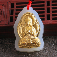 Fine Jewelry Unique Natural Hetian Jade Pendant Thousand Hand Guanyin Bodhisattva Free Shipping 8616