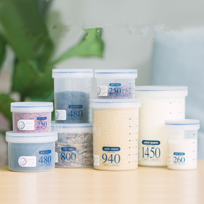 Creative Sealed Food Storage Bottles Kitchen Transparent Moistureproof Preservation Jars Multifunction Portable Milk Boxes