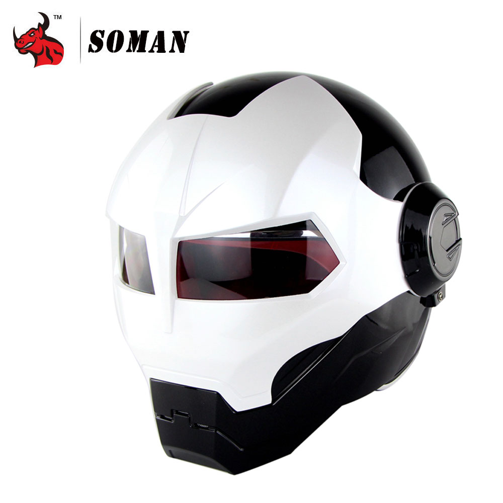 SOMAN Motorcycle Helmet Motorbike Capacetes Casco Retro Casque Motocross Helmet Motorcycle Moto Helmet