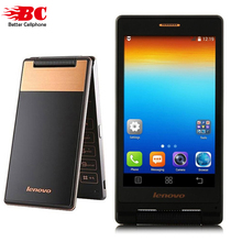 Original lenovo A588T MTK6582 Quad Core Flip Phone Smartphone 512MB RAM 4GB ROM Dual Sim 4.0 Inch 5MP camera Russian language