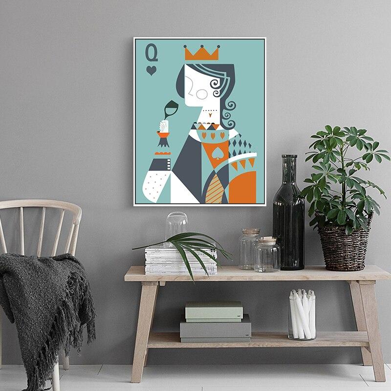 ღ Ƹ̵̡Ӝ̵̨̄Ʒ ღPintura poker geometría patrón pintura al óleo pared ...