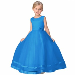 Image 4 - 8 Colors Princess Kids Communion Dresses Big Bow Flower Girl Dresses For Weddings Organza Peagant Wedding Party Dress