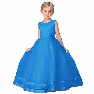 Image 4 - Vestidos de princesa, 8 cores, comunhão, crianças, grande, laço, flor, vestidos para casamentos, organza, peagant, vestido de festa de casamento