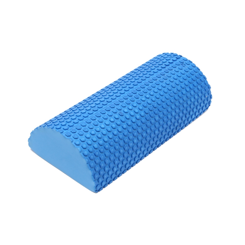 Blue EVA foam Half Round Yoga Roller Pilate Fitness Foam Gym Fitness Exercise Yoga Blocks Massage Floating Point 30x15x7 cmN