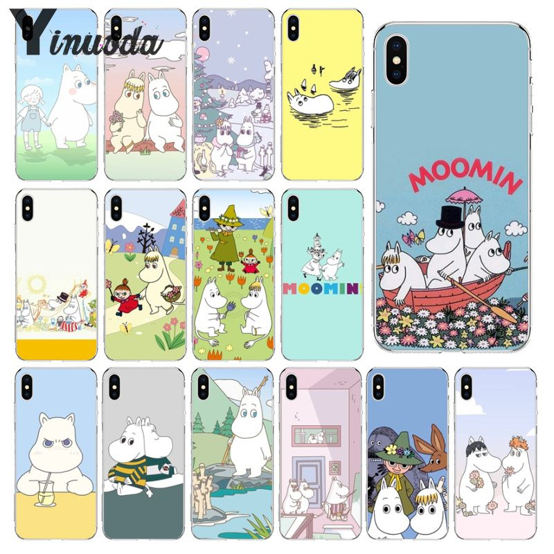 Yinuoda Moonmin Hippo Cute animal cartoon Smart Cover Soft Shell Phone Case for iPhone X XS MAX 6 6S 7 7plus 8 8Plus 5 5S XR
