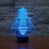 3D Night Light Animal Flies 7 Color Changing Night Light Electrical Outlet Night Light Home Depot