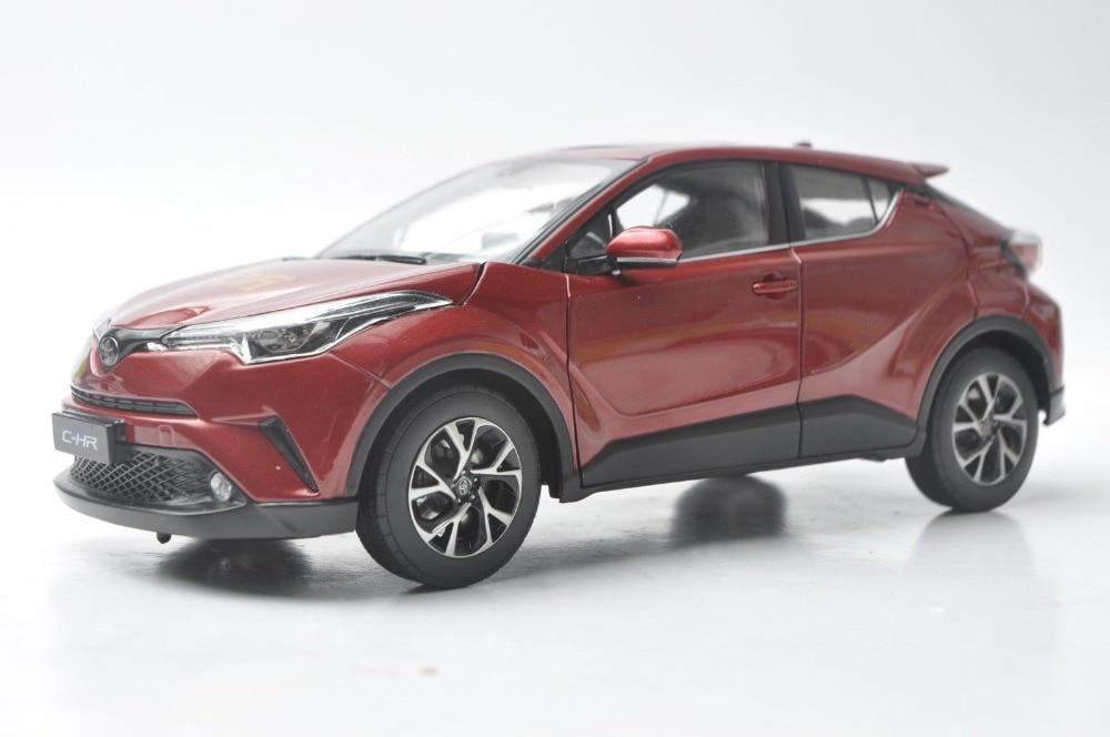 1:18 modèle moulé sous pression pour Toyota C-HR 2017 tout rouge (Edtion spéciale) alliage jouet voiture Miniature Collection cadeaux CHR C HR