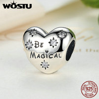 Genuine 100 925 Sterling Silver Be Magical Charm Beads Fit Original Pandora Bracelet Bangle Authentic Jewelry