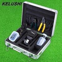 KELUSHI 13pcs/set FTTH Fiber Optic Tool Kit with HS 30 Fiber Cleaver with fiber stripping tool For Fiber Splicer Fusion