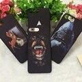 Shark lujo profunda givency teléfono case cover para iphone 7 plus 6 6 s plus gvc perro animal contraportada case paris con logotipo de la marca