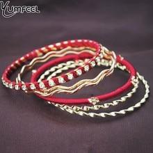 Yumfeel Brand Fashion Bracelets & Bangles For Women Dance Metal Bracelet Set Gift Wholesale Women India Jewelry|Bangles| |  - AliExpress