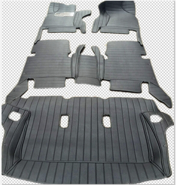 no odor full surrounded special car floor mats for Fortuner 7seats easy clean non-slip waterproof carpets