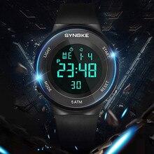 55f3684b1acb Reloj Digital deportes electrónicos LED relojes para hombres 50 M  resistente al agua corriendo para relojes Fitness cuenta regre.