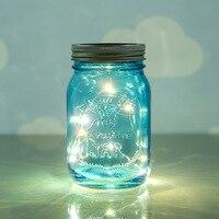 Outdoor Solar Cover Lamps Glass Bottle LED Strips Light Control Sensor Mason Jar Solar Light Strings for Yard Garden Novelty Led