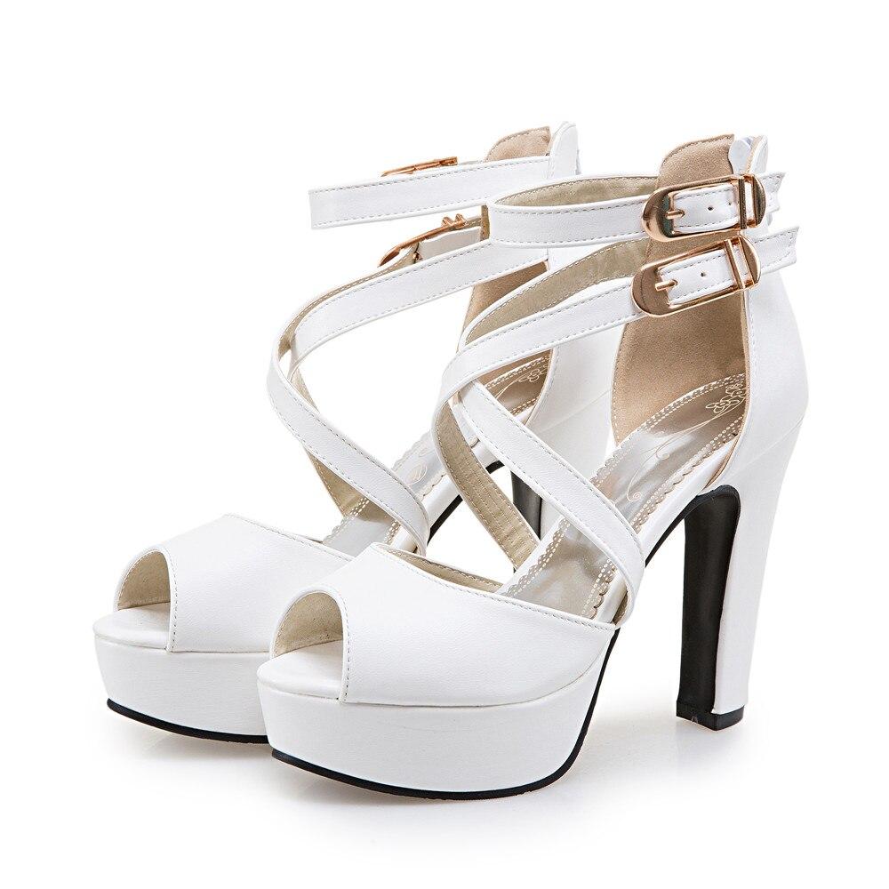2017 damen Schuhe Gladiator Sandalen Frauen Große Größe 48 49 50 sandalen Damen Dame Party Hochzeit Schuhe Absatzfrauen Pumpt 3126-in Hohe Absätze aus Schuhe bei  Gruppe 3