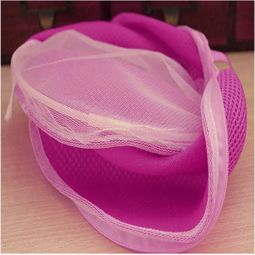 Creative Red Happy Gifts Amazing Women Bra Laundry Lingerie Washing Hosiery Saver Protect Mesh Small Bag