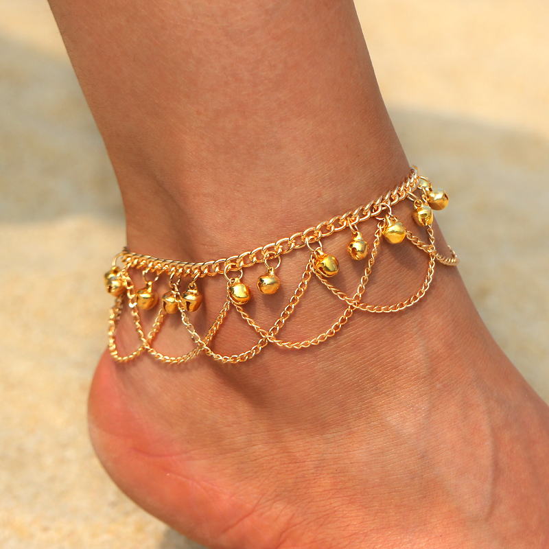 Vintage Style Ankle Bracelet Summer Anklet Turquoise and Gold Indian Style Anklet Lovely Bridesmaids Gift Pink Boho Chic On Trend
