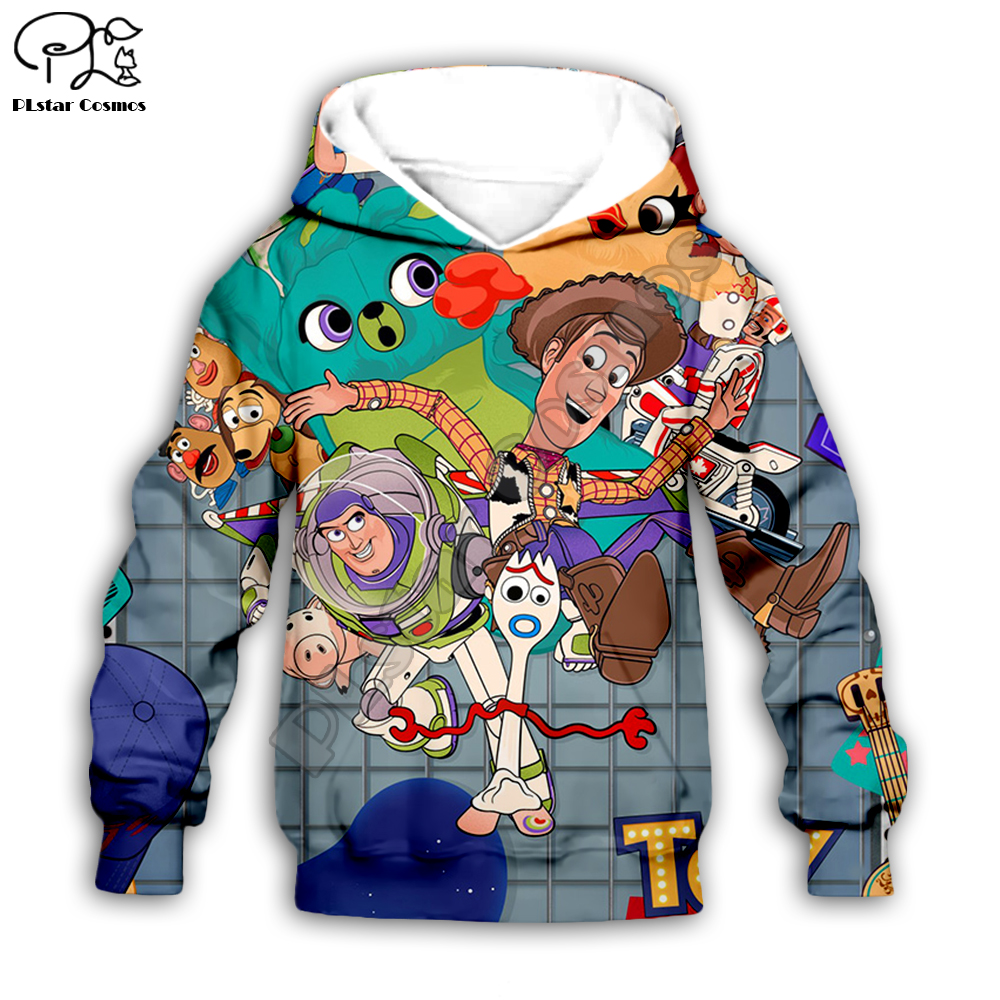 Kids Forky Print Toy Story Season 4 Girls Bopeep 3d Hoodies Set/t Shirt/boy Sweatshirt Sherif Woody Cartoon Buzz Lightyear Pants