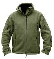 Military Tactical Fleece Jacket Men US Army Polartec Sportswear Clothes Warm Pockets Outerwear Casual Hoodie Coat Jacket