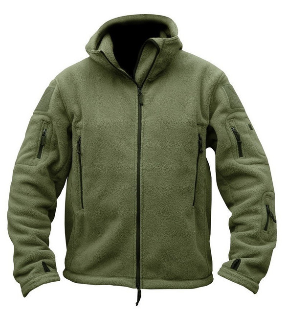 Military Tactical Fleece Jacket Men US Army Polartec Sportswear Clothes  Warm Pockets Outerwear Casual Hoodie Coat Jacket a1548b18d8a